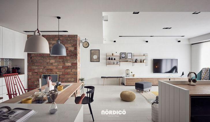 Современная квартира с рабочей зоной