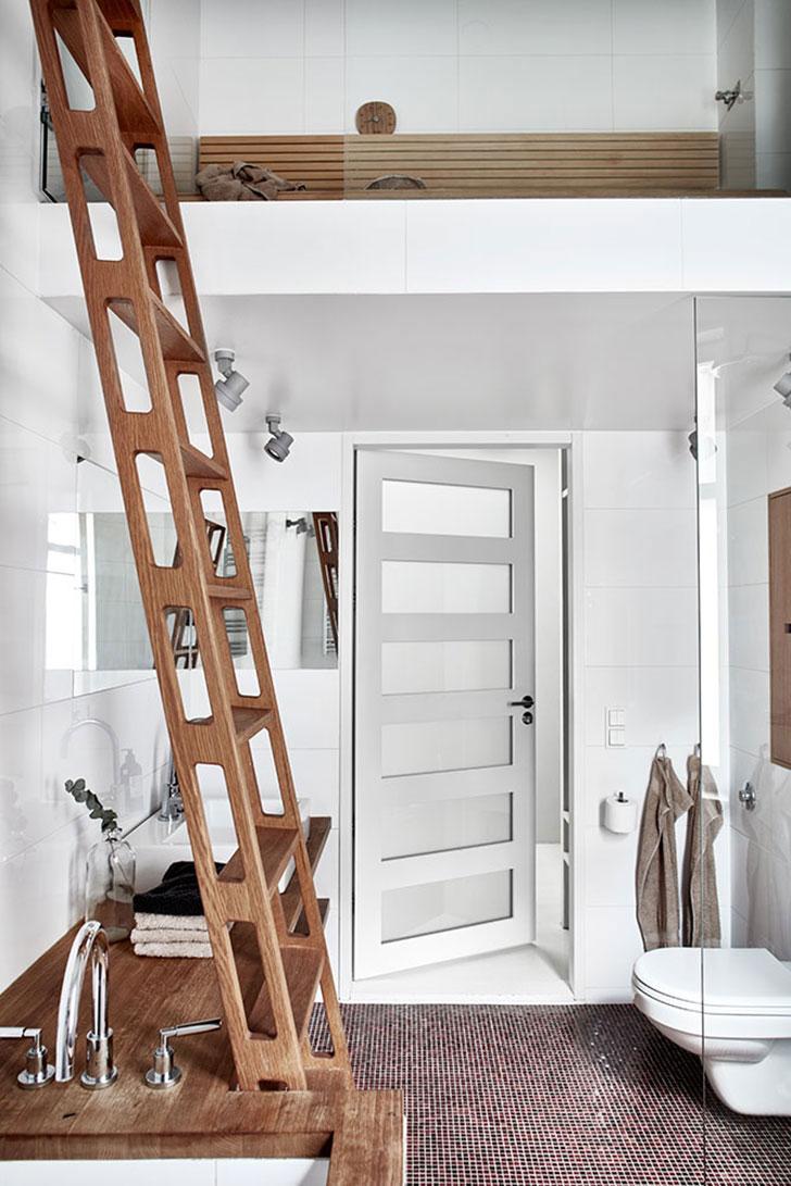 Двухуровневая квартира в скандинавском стиле