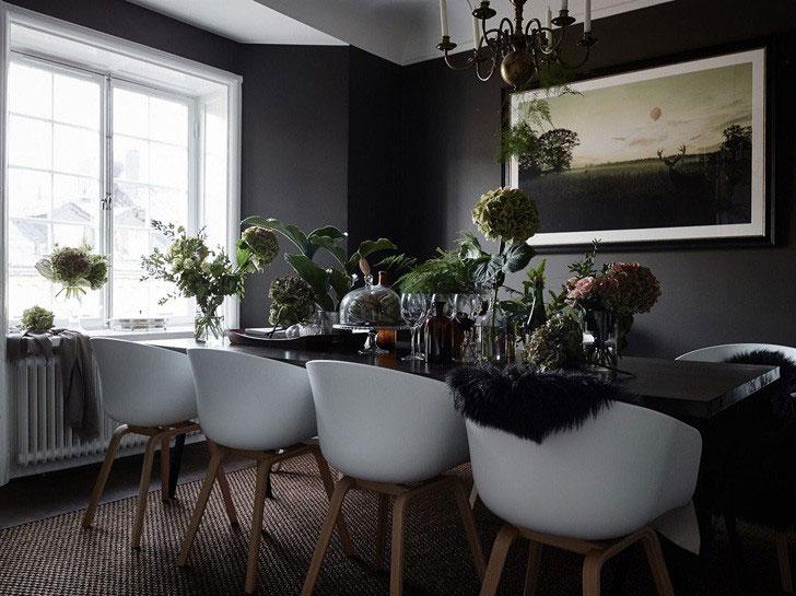 Квартира в темно-серых тонах