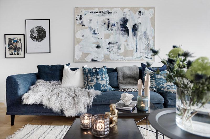 Скандинавский дизайн - украсьте диван подушками