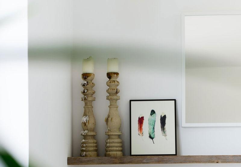 Скандинавский дизайн - свечи в интерьере