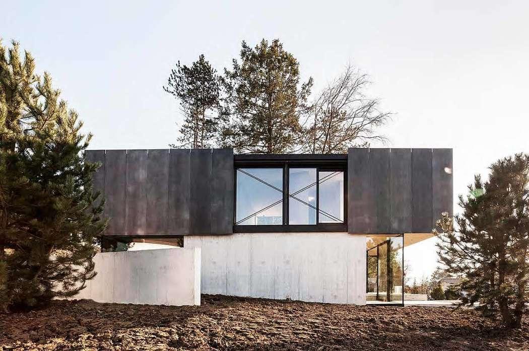 Бетонный дом в лофт стиле в Швейцарии