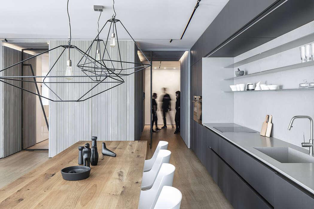 Квартира для молодой семьи в стиле лофт