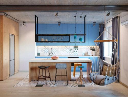 Интерьер квартиры в Киеве в индустриальном стиле